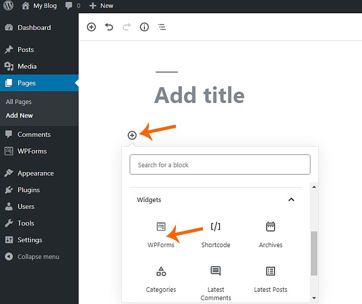 Create a Contact forms in wordpress