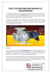 How is the centrifugal pump important for various machines.pdf