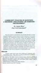 Community Policing in Question A Mesmeric Pghilosophy or Derisory Programmes.pdf