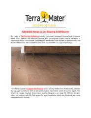 Affordable_Range_Of_Oak_Flooring_In_Melbourne.PDF